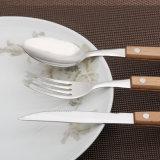 18-10 l'acier inoxydable de Dessus-Fin a modifié le jeu réglé de la vaisselle plate 24PCS/de couverts
