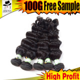естественный черный индийский поставщик волос 6A (KBL-IH-LH)