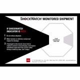 De gevoelige Indicator van het Effect van de Schok Shockwatch van Goederen 5/10/15/25/37/50/75g