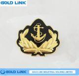 Emblème fait sur commande d'insigne en métal de Pin de chapeau militaire d'insigne de chapeau de marine
