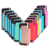 Funda protectora de la tarjeta de Plug-in para el iPhone x
