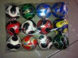 カスタマイズされた柔らかく多彩なPUのサッカーボールの圧力の球