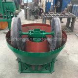 Máquina de preparación doble de la rueda, molino mojado de la cacerola para el oro de pulido