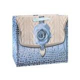 Noir et bleu profond de fleurs de l'habillement Shopping sac de papier kraft de cadeaux