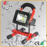 Los proyectores LED de iluminación LED de inundación aprobado Ce 10W/20W/30W/50W proyector LED recargable
