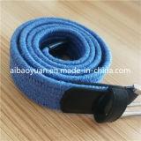 파란 색깔 직물 면은 땋는 부속품 고무줄 벨트를 새끼로 묶는다