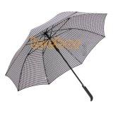Качество Houndstooth прямой/Датчик дождя и освещенности мужская большие автоматические твердых зонтик
