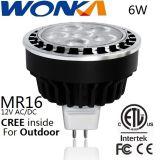 屋外の照明のためのクリー族LED MR16の球根6Wの改装のスポットライト