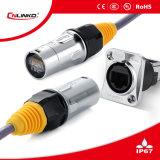 Conector impermeable de Cat5e Ethercon 8p8c RJ45 para la señal