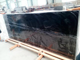 Laje preta Polished natural do granito da pedra da galáxia para a bancada da cozinha, telha