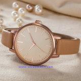 남자 숙녀 (WY-17008A)를 위한 공장 공급 석영 시계 형식 손목 시계