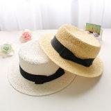 Mode de loisirs de l'été Chapeau de paille avec Bow personnalisé