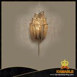 Le restaurant Hotel Projet Lustre chaîne en or lampes de la poignée de commande (KA106G)