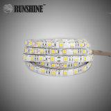 Indicatore luminoso di striscia flessibile elencato dell'UL CRI85 Epistar 14.4W m. SMD5050 LED