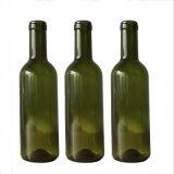 75cl旧式な緑アルコール飲料のガラス赤ワインのびん