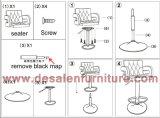 Moderno sillón de cuero de alta calidad de Club Bar muebles (C011)