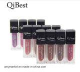 Crema mate del labio del labio de Qibest del lustre del color mate duradero del terciopelo 12