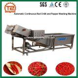 De de automatische Ononderbroken Rode Spaanse pepers van de Transportband en Wasmachine van de Peper