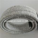 White Grey Cashmere Braided Belt