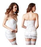 White Lace Women Sexy Waist Slimming Body Shaper Belt Corset