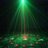 녹색 레이저 광을 점화하는 크리스마스 훈장 단계