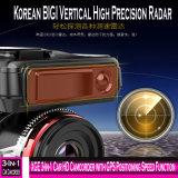 Xge 3-en-1 coche videocámara HD con la función de Velocidad de posicionamiento GPS