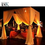 Hochzeits-Hintergrund-justierbares Rohr und drapieren Vorhang-Installationssätze für Ereignis