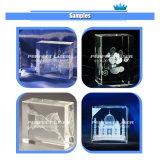 С маркировкой CE&TUV&SGS 3D лазерная гравировка стекла блок PE-Dp-A2