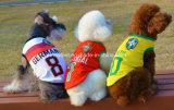 Roupa do cão de animal de estimação da equipa de basquetebol do futebol, Tshirt dos cães