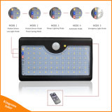 옥외 태양 강화된 정원 빛 60 LED 안전 거리 벽 운동 측정기 램프 점화