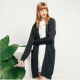 Dame-neue Form-lange Wolljacke-Strickjacke