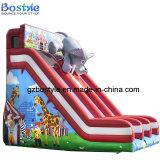 子供の膨脹可能なスライドか象の二重車線水スライド