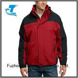 A cor de contraste para homens casaco de Inverno no exterior