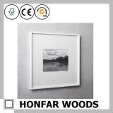 Cadre de tableau en bois solide de rectangle de cru pour le cadeau d'anniversaire