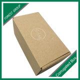 Embleem dat het Bruine Vakje van het Document van Kraftpapier afdrukt