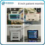 Portable tamaño pequeño monitor paciente de 8 pulgadas para el uso del vehículo del ccsme