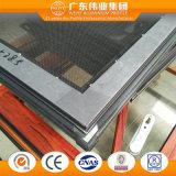 De aluminio de color dual Casement ventana con mosquitera