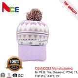 Chapéu feito malha do inverno do Pompom do sustento da forma Beanie bonito morno