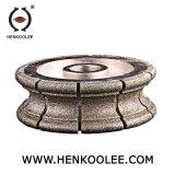 Rueda Electroplated del perfil del diamante de la rueda de 12 pulgadas de diámetro