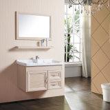 Nuevo material de aluminio color madera espacio Environmentally-Friendly vanidades mueble para baño
