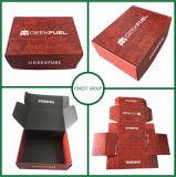 Rectángulo de empaquetado de papel mate de la impresión en offset del color rojo