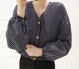 Il V-Collo personalizzato della banda delle donne adatta liberamente la camicia