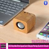 5013 Madeira Mini Retro Quadrada do alto-falante Bluetooth portátil sem fio