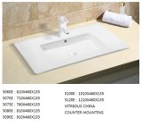 Sanitaryware Thin-Edge Rectangular 75cm Lavabo para baño vanidad (5075E)