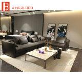 Luxuxart-echtes Leder-Ecken-Sofa stellte für Büro-und Wohnzimmer-Möbel ein