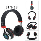Fascia stereo bassa Bluetooth sopra le cuffie avricolari chiare della cuffia dell'orecchio LED