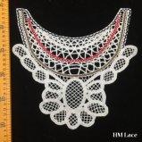 27*25cmの美しい網のミルクの白い綿織物の花のVeniseのレースの縫うアップリケDIYのクラフトのU溶けるレースカラー女性装身具Hm2026