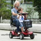 年配者のための電気移動性のスクーターを折る中国の有名な四輪ポータブル