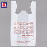 100% de amido de milho T-shirt sacola de compras de mercearia de plástico