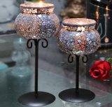 Mosaïque de style européen chandeliers en verre avec support de métal